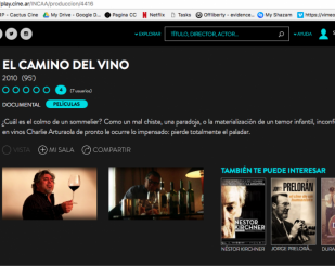 The ways of wine in cine.ar