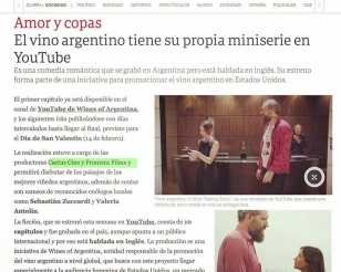 "Newspaper Clarín about our series ""A Blind Tasting Story"""